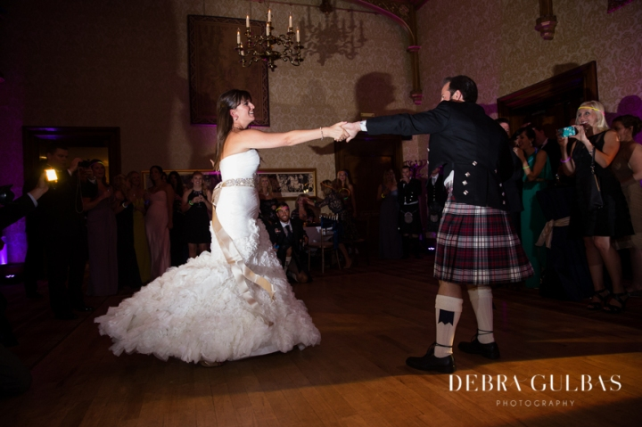 Alania Cater & Trey Flesher's wedding day in Edinburgh, Scotland.