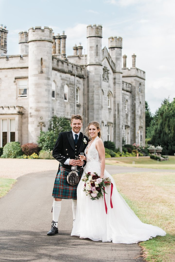 A Fairytale Destination Wedding at Dundas Castle, Edinburgh