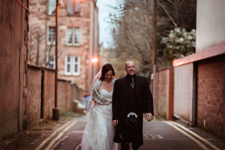 Glasgow City Elopement, Urban Chic