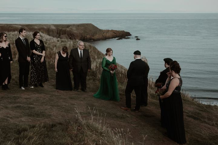 Castle Ruins Elopement at Dunnottar Castle