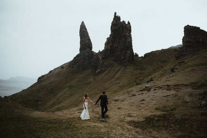 Skye Elopement, with a romantic ceremony at Eilean Donan Castle
